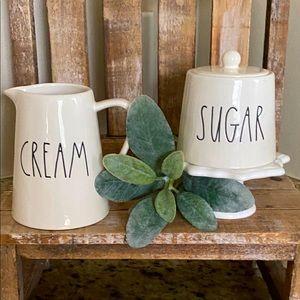 NEW RAE DUNN Cream & Sugar Set